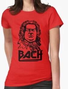 Metal Bach (black) Womens Fitted T-Shirt