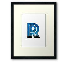 The Letter R - Starry Night Framed Print