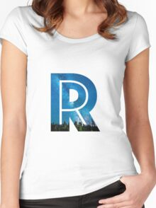 The Letter R - Starry Night Women's Fitted Scoop T-Shirt