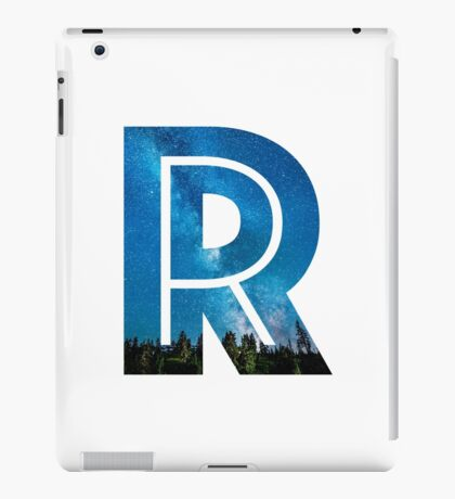 The Letter R - Starry Night iPad Case/Skin