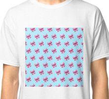 Bow Emoji Pattern Blue Classic T-Shirt