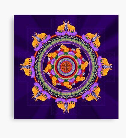 The Lu Mandala; Prosperity & Success Canvas Print