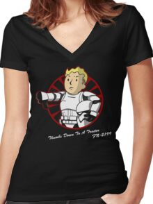 Thumbs down to a traitor  Women's Fitted V-Neck T-Shirt
