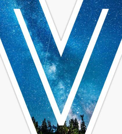 The Letter V - Starry Night Sticker