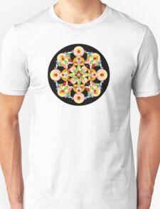 Pastel Carousel Black Circle T-Shirt