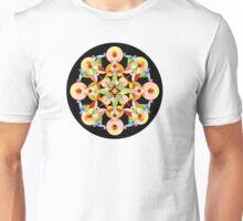 Pastel Carousel Black Circle Unisex T-Shirt
