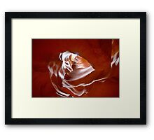 Heart at Antelope Canyon in Page, Arizona, USA Framed Print