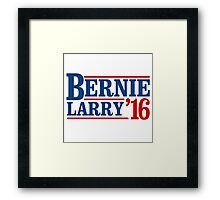 Bernie / Larry 2016 Framed Print