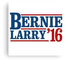 Bernie / Larry 2016 Canvas Print