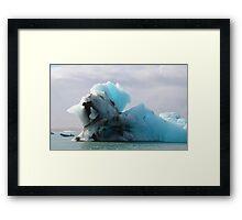 Jokulsarlon Glacial Lagoon Icebergs in Iceland Framed Print