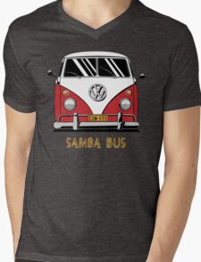 VW T1 SambaBus (red) Mens V-Neck T-Shirt