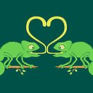 Chameleons Sticky Love by Zoo-co