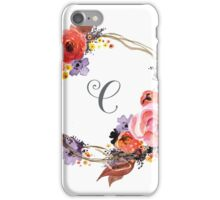 Autumn Wreath with Name Initial C iPhone Case/Skin