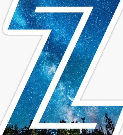 The Letter Z - Starry Night Sticker
