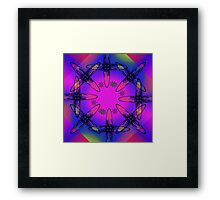 Abstract Cross Framed Print