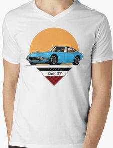 Toyota 2000 GT (blue) Mens V-Neck T-Shirt