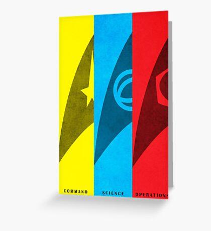 Starfleet Emblems - Original Series Greeting Card