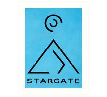 Stargate SG1 Abstract At Art Print