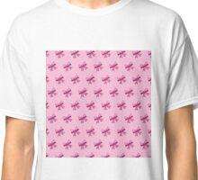 Bow Emoji Pattern Pink Classic T-Shirt