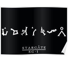 Stargate SG1 Address Poster