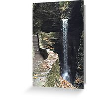 Watkins Glen State Park in New York , USA Greeting Card