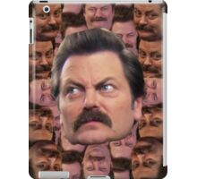Ron Swanson Head Print iPad Case/Skin