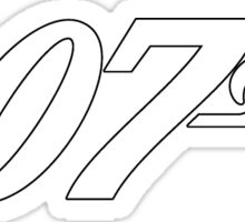007 James Bond White and black Sticker