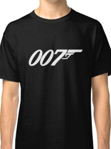 007 James Bond White and black Classic T-Shirt