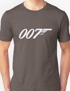 007 James Bond White and black Unisex T-Shirt