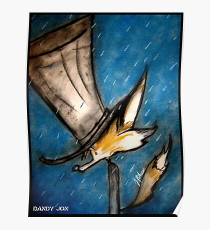 Dandy Fox: Rain Walk Poster