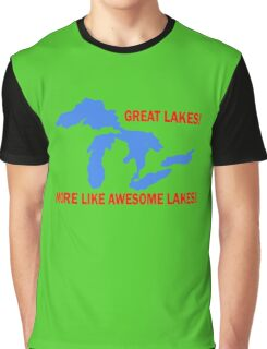 AWESOME lakes funny nerd geek geeky Graphic T-Shirt