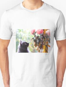 Gazing at the Flowers.  T-Shirt
