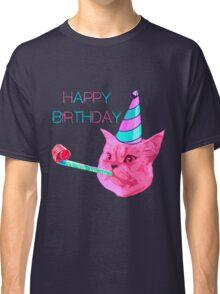 Happy Birthday Party cat Classic T-Shirt