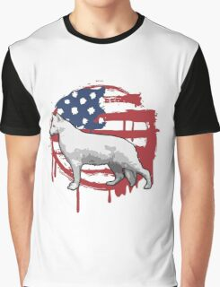 American Canine Vector Graphic T-Shirt