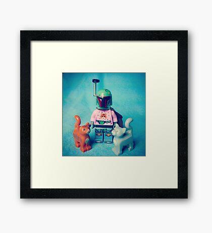 Cat Man-Do Framed Print
