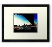 Sydney Under the bridge Framed Print