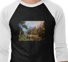 Elves and castle Men's Baseball ¾ T-Shirt