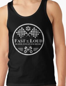 Fast and Loud, Inspired Gas Monkey. White. Tank Top