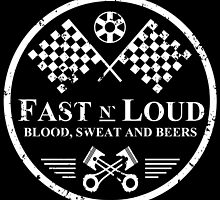Fast and Loud, Inspired Gas Monkey. White. by Yolanda Martínez