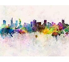 Ho Chi Minh skyline in watercolor background Photographic Print