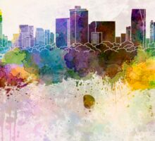 Ho Chi Minh skyline in watercolor background Sticker
