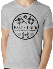 Fast and Loud, Inspired Gas Monkey. Black. Mens V-Neck T-Shirt