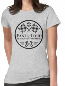 Fast and Loud, Inspired Gas Monkey. Black. Womens Fitted T-Shirt