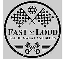 Fast and Loud, Inspired Gas Monkey. Black. Photographic Print