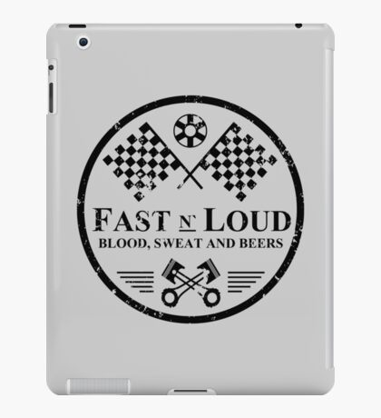Fast and Loud, Inspired Gas Monkey. Black. iPad Case/Skin