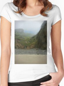 Foggy Beach House Women's Fitted Scoop T-Shirt