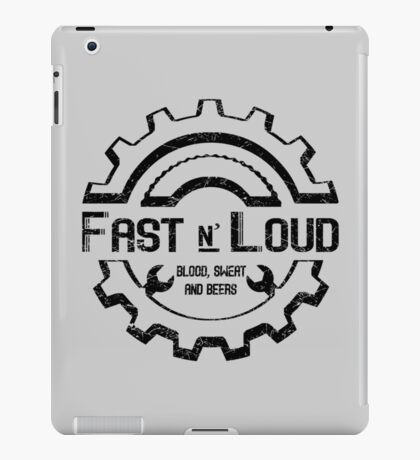 Fast and Loud, Inspired Gas Monkey. Black design. iPad Case/Skin