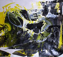 It's better to travel hopefully than to arrive - Original BIG Wall Modern Abstract Art Painting by Dmitri Matkovsky