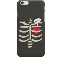 Imprisoned Heart Asking for Help iPhone Case/Skin