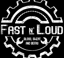 Fast and Loud, Inspired Gas Monkey. White design. by Yolanda Martínez